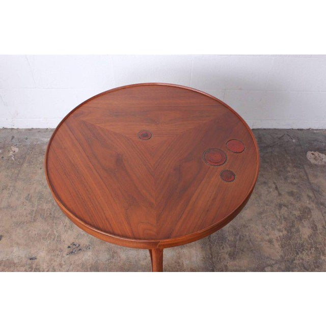 Brown Dunbar Janus Table by Edward Wormley With Natzler Tiles For Sale - Image 8 of 12