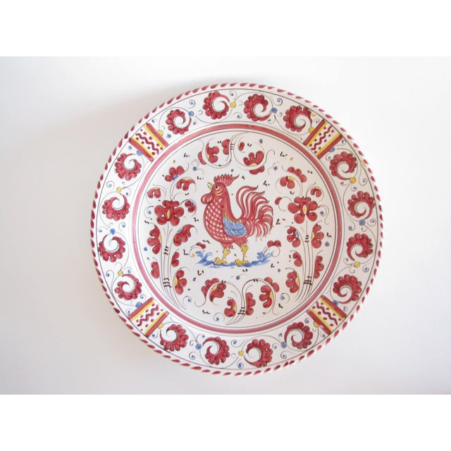Vintage Pv Italy Orvieto Red Rooster 10 Place Settings Dinnerware Set - 70 Pieces For Sale In Chicago - Image 6 of 13