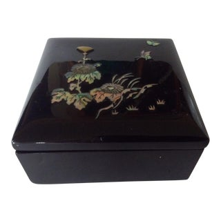 Japanese Lacquer Box For Sale