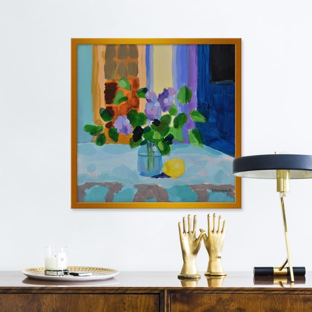 Giclée on textured fine art paper with gold frame. Unframed print dimensions: 18.75x18.75. Anne Carrozza Remick resides in...