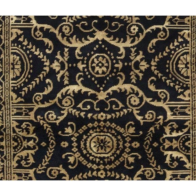 "Tibetan Contemporary Hand Woven Wool Rug - 5'11"" X 9' - Image 2 of 3"