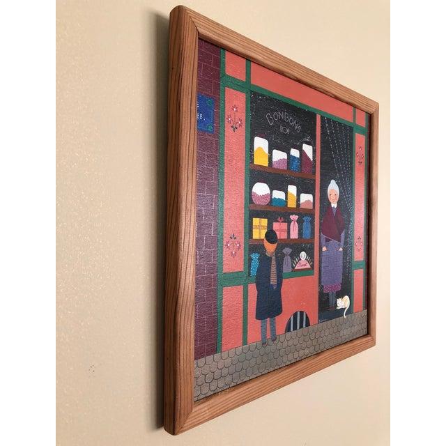 Mid-Century Painting - La Marchande De Bonbons by Dominique LeFranc 1979 For Sale - Image 9 of 10