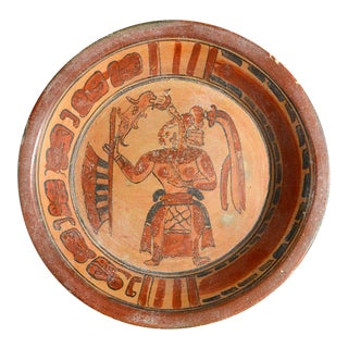 Large Mayan Plate For Sale