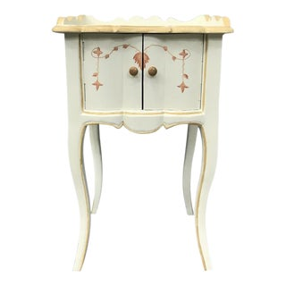Louis XV Style Painted Nightstands For Sale