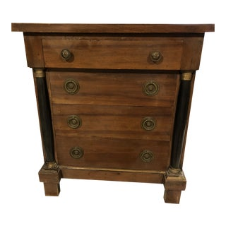 Neoclassic Style Wooden Nighstand For Sale