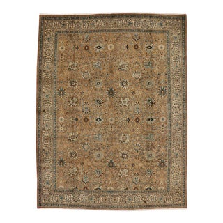 Vintage Persian Tabriz Rug with Traditional Style in Light Colors