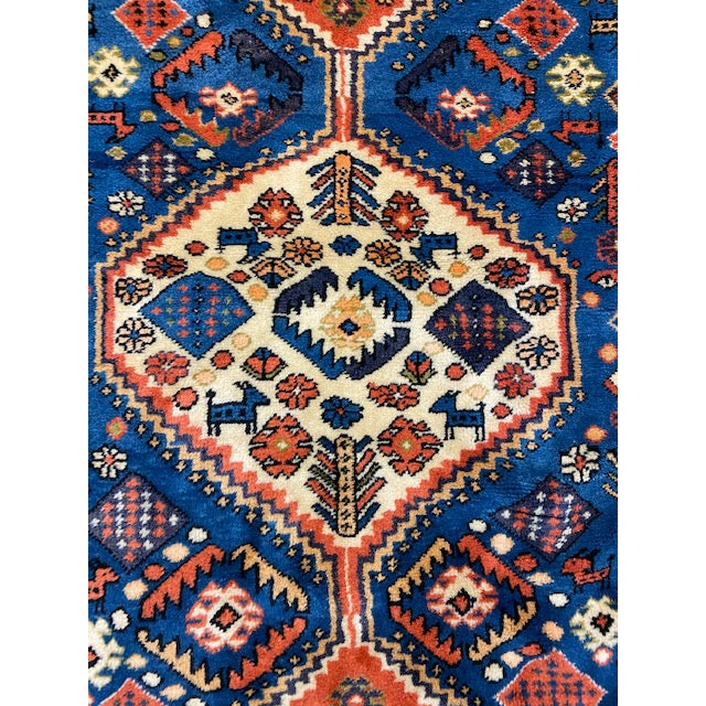 "1940s 1940s Vintage Turkish Tribal Rug-3'7'x7"" For Sale - Image 5 of 8"
