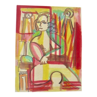 Eric Westlake Contemporary Cubist Figure Painting For Sale