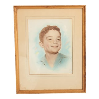 Vintage Portrait of a Young Boy For Sale