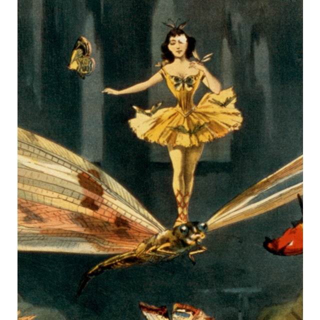 """""""The Bounding Queen"""" 1800s Vaudeville Poster Reproduction Print - Image 3 of 5"""