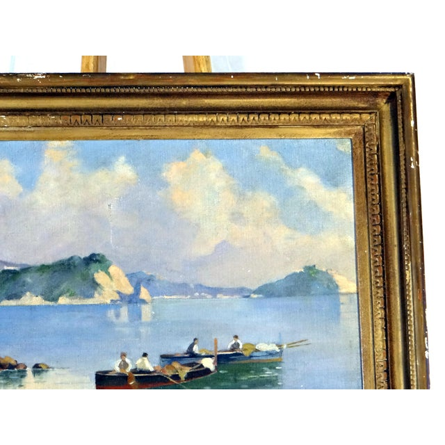 Italian Coastal Painting With Mount Vesuvius by Henry Ravell (1864 – 1930 California) For Sale In San Francisco - Image 6 of 12