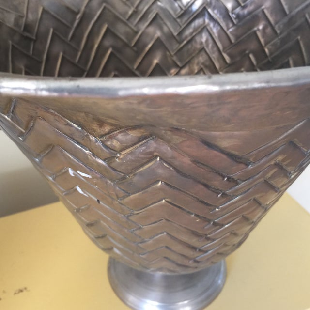 Engraved Metal Vessel Ice Bucket - Image 9 of 10