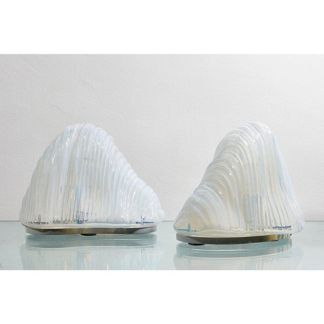 1960s Pair of Iceberg Lamps by Carlo Nason For Sale - Image 5 of 6