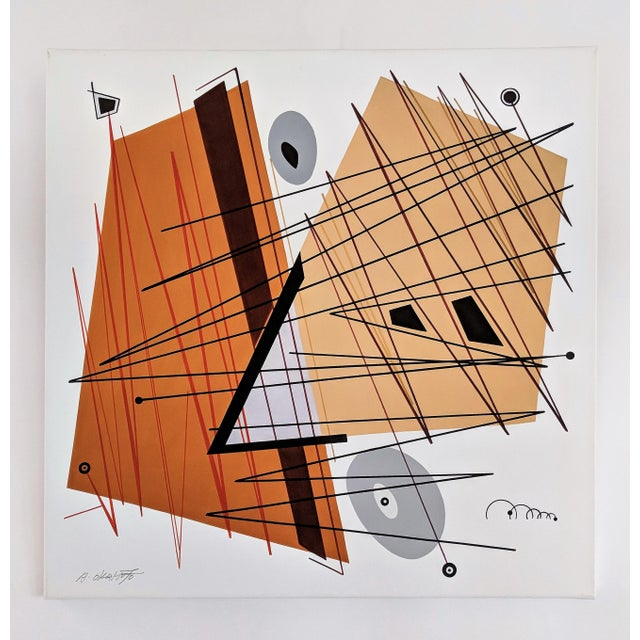 """Black Atsuko Okamoto Abstract Serigraph A. P. """"Convergence 2"""" Signed For Sale - Image 8 of 8"""