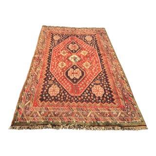 "Vintage Persian Qashqai Area Rug - 4'10"" x 7'10"""
