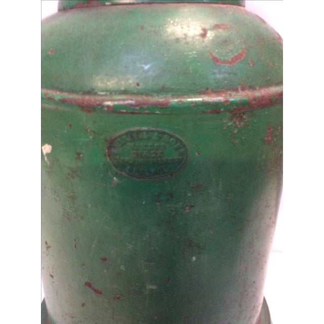 Metal Antique English Tea Canister Lamp For Sale - Image 7 of 9