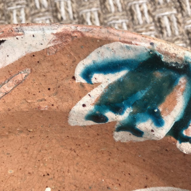 1960s Rustic Folk Slip Glaze Bowl For Sale - Image 5 of 8