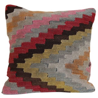 Turkish Kilim Handmade Wool Pillowcase For Sale