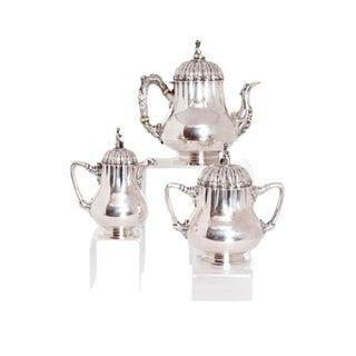 Silver Tea Set by Boston Silversmith Obadiah Rich (1809- 1888)