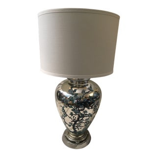1940s Chinoiserie Mercury Glass Lamp For Sale