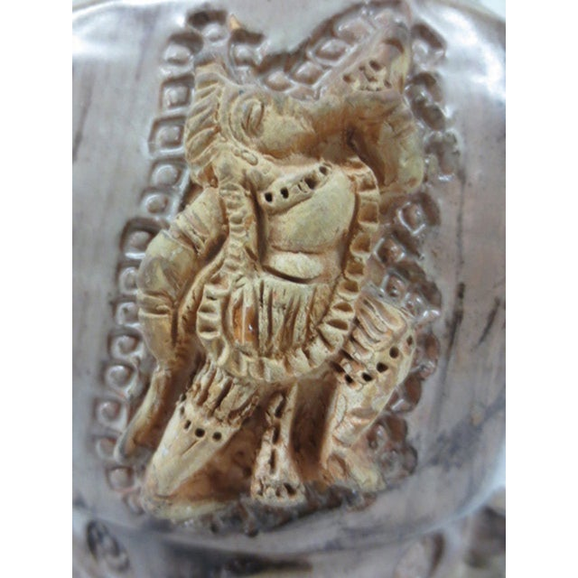 Pottery Lamp with Applied Oriental Figure - Image 5 of 8