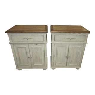 Light Gray Painted Nightstands - A Pair