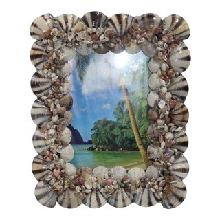 Shell Encrusted Picture Frame for Wall or Tabletop for 5x7 Picture For Sale