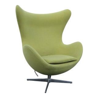 Mid Century Modern Swivel Egg Chair Fritz Hansen Style 1803 For Sale