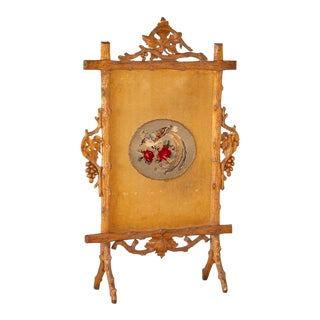 Antique Black Forest Fire Place Screen For Sale