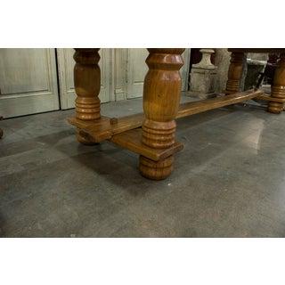 English Oak Plank Top Trestle Table Preview