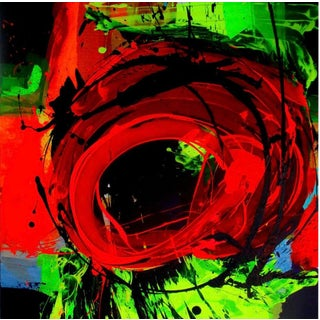 """Abstract Acrylic Painting Titled """"Vortex"""" For Sale"""