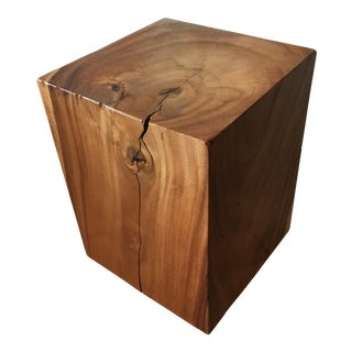 Reclaimed Solid Wood Cube Table For Sale