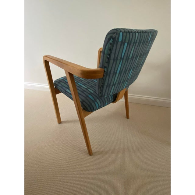 Wood 1950s Mid-Century Modern Walnut Upholstered Arm Chairs - a Pair For Sale - Image 7 of 13