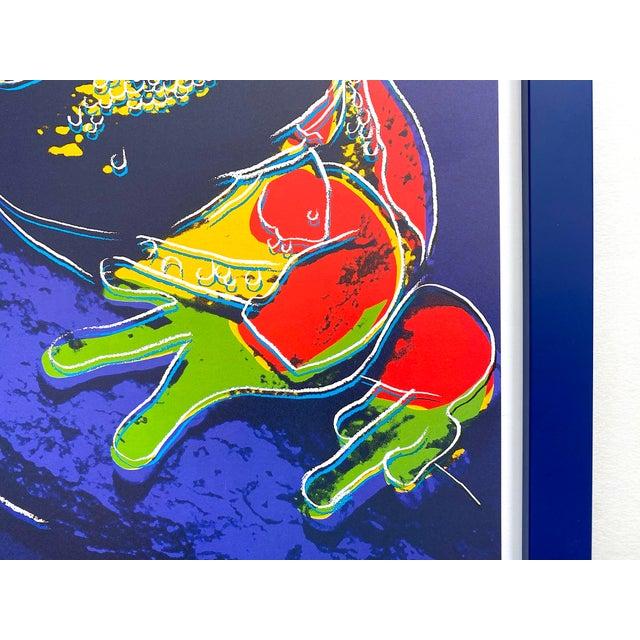 """Andy Warhol Estate Vintage 1989 Endangered Species Framed Lithograph Print """" Pine Barrens Tree Frog """" 1983 For Sale - Image 11 of 13"""