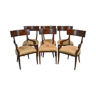 Baker Milling Road Empire Style Set of 6 Dining Chairs