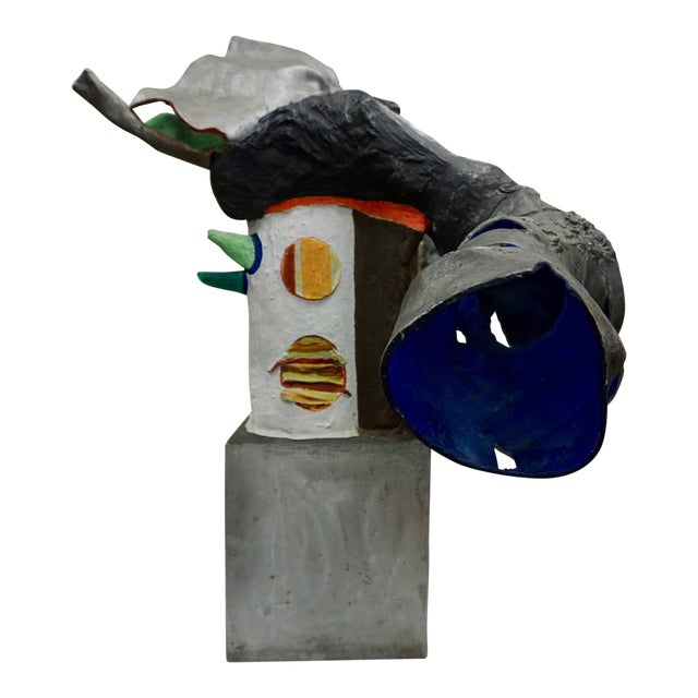 Painted Aluminum Abstract Sculpture by Robert Thomas, 1965 For Sale