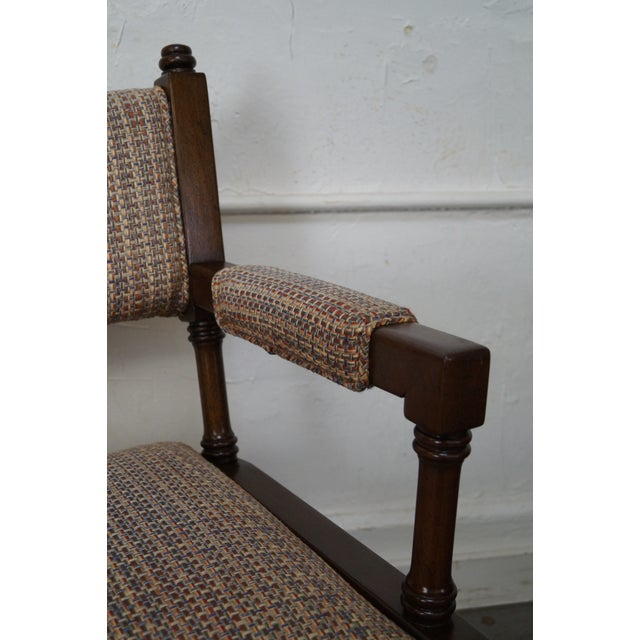 Regency Style Directors' Arm Chairs - Set of 4 For Sale - Image 5 of 10