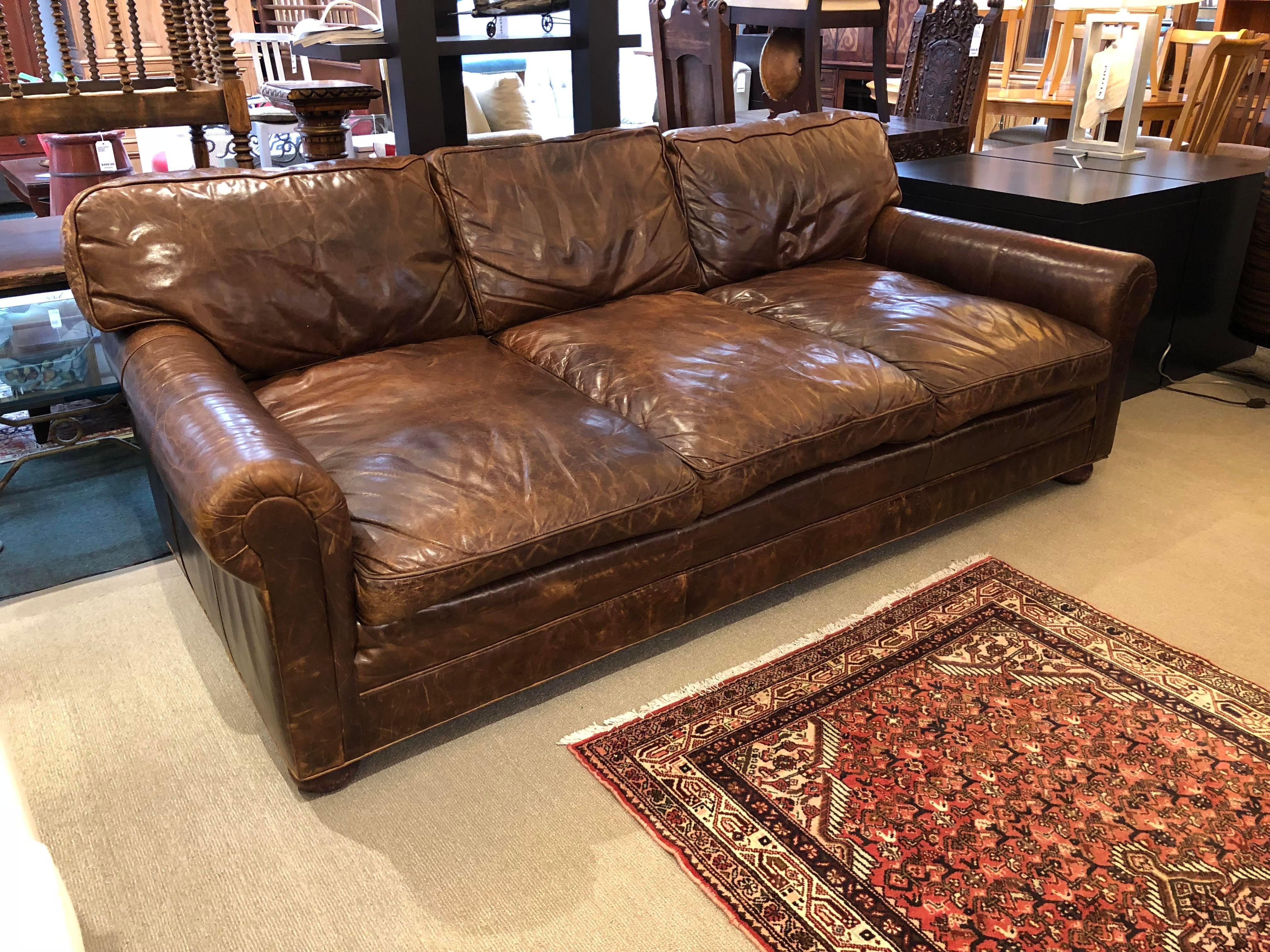 Restoration Hardware Lancaster Sofa Luxe Depth Brompton Cocoa