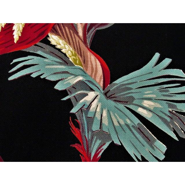 Textile 1930's Tropical South Beach Vintage Barkcloth Fabric Drape For Sale - Image 7 of 13