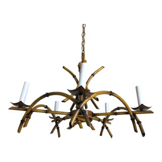 Natural Bamboo-Style Chandelier