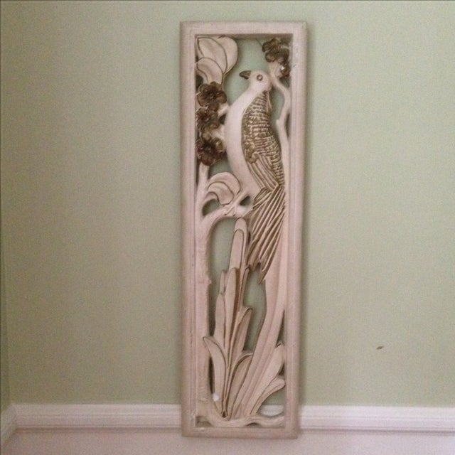 Mid Century Bird & Flower Wall Hanging - Image 2 of 11