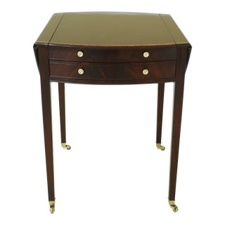 Stickley Colonial Williamsburg Cw-84 Mahogany Pembroke Gaming Table For Sale