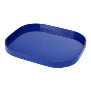 Miles Redd Collection Small Stacking Tray in Cobalt Blue For Sale