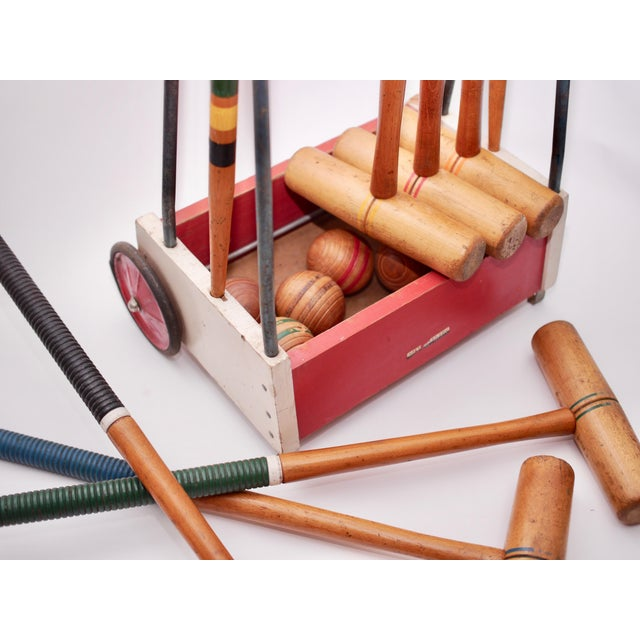 Wood Mid Century South Bend Croquet Set For Sale - Image 7 of 12