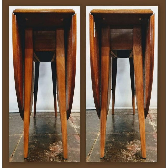 Mid-Century Danish Modern Sutcliffe of Todmorden S Form Drop Leaf Table For Sale In San Diego - Image 6 of 12