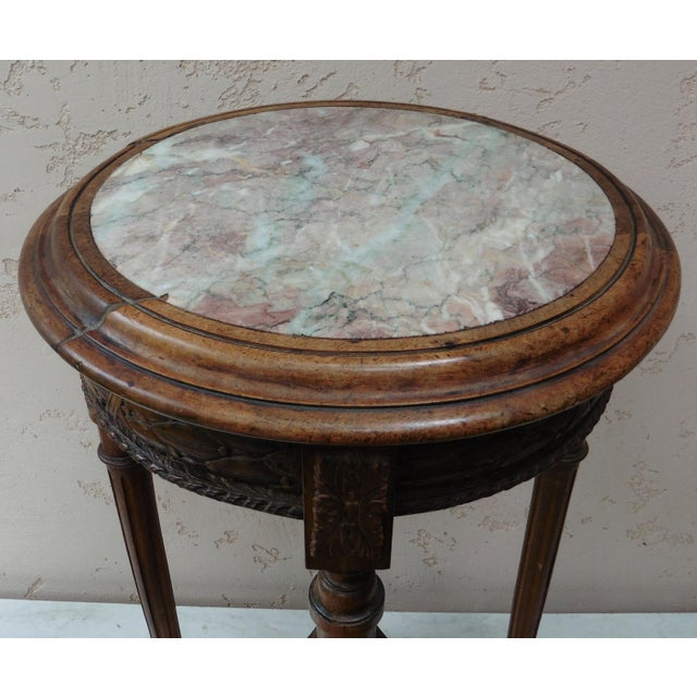 French Louis XVI Style Round Gueridon Table - Image 4 of 6