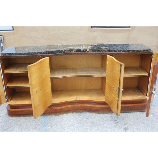 French Art Deco Palisander and Sycamore Buffet / Sideboard By Tricoire Circa 1930s - Image 6 of 11