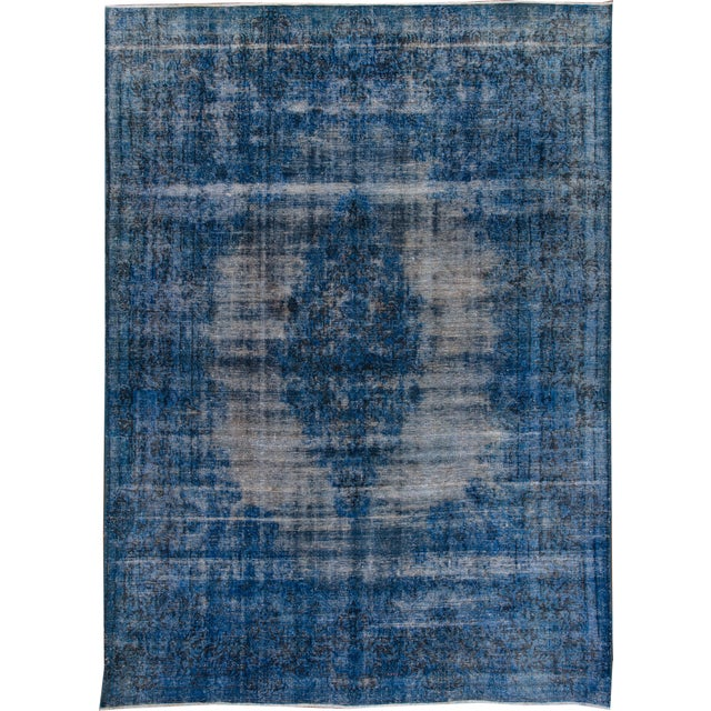 """Apadana - Vintage Overdyed Rug, 12'9"""" X 9'5"""" For Sale In New York - Image 6 of 6"""