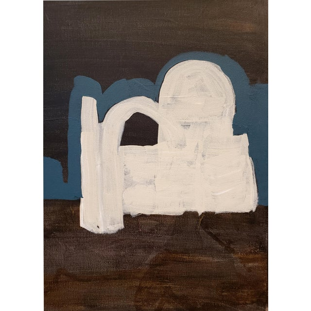 Lionel Lamy Contemporary Painting of Desert Ruins at Night by Artist Lionel Lamy For Sale - Image 4 of 6