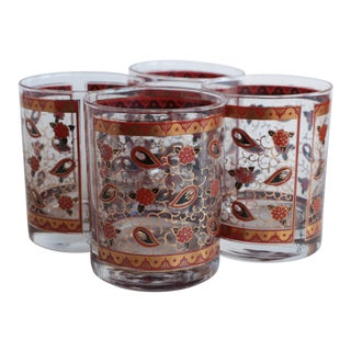 Georges Briard Petite Paisley Lowball Glasses - Set of 4